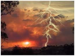 sun and lightning